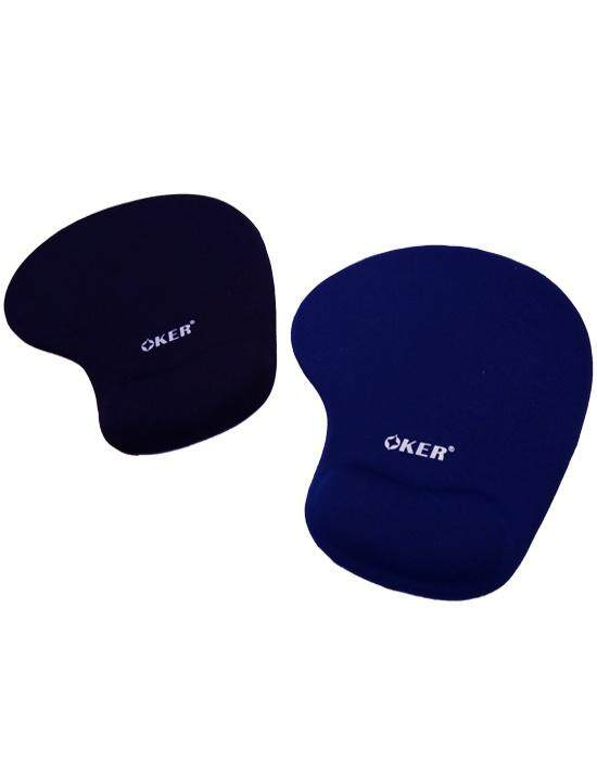 Oker แผ่นรองเม้าส์พร้อมเจลรองข้อมือ Mouse Pad With Gel Wrist Support.