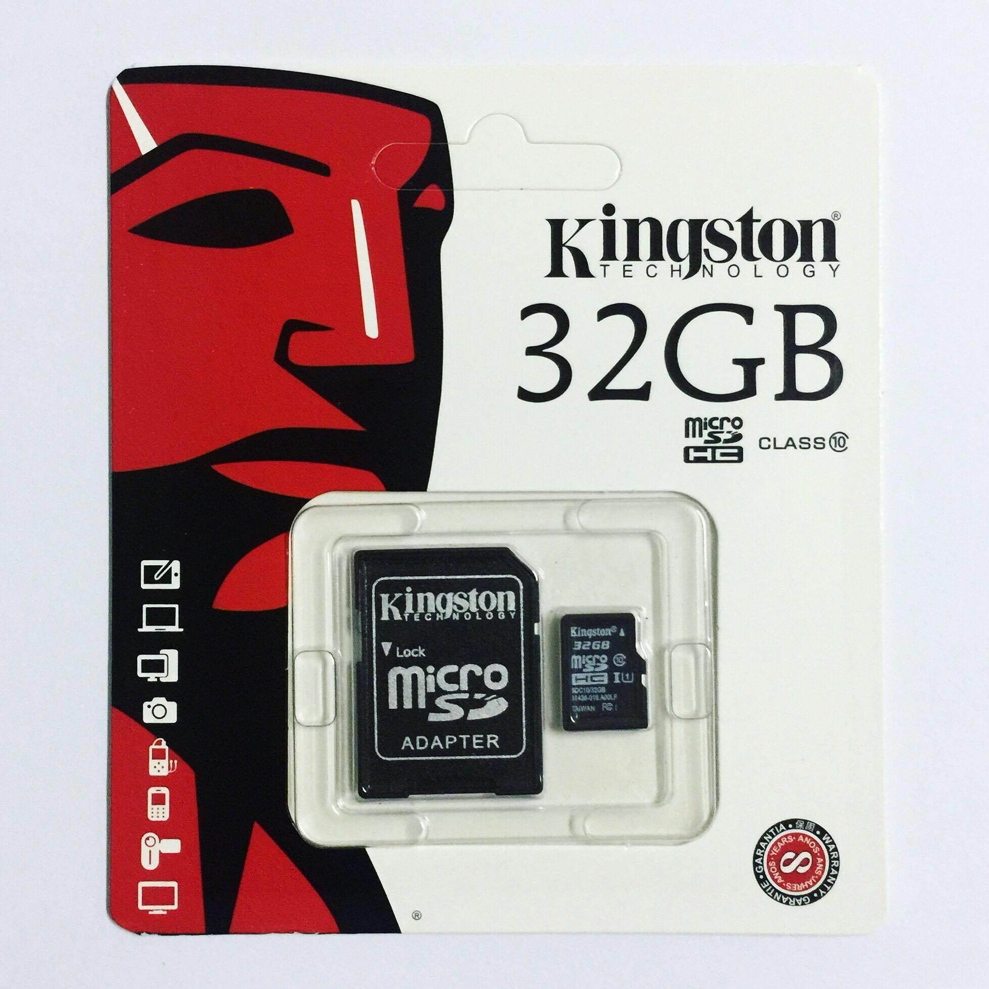 Kingston Memory Card Micro SD SDHC 32 GB Class 10 คิงส์ตัน เมมโมรี่การ์ด SD Card