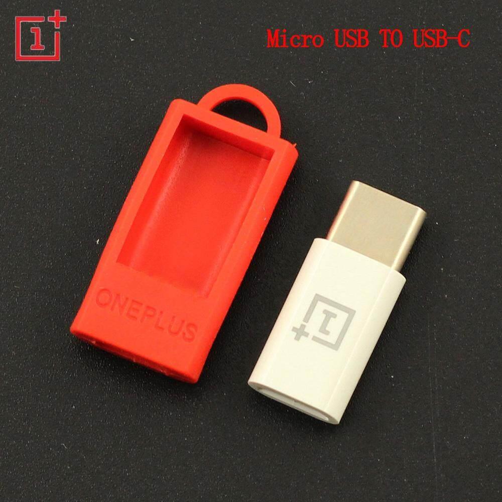 Asli OnePlus Mikro Usb Ke Adaptor Tipe C, anti-hilang Kabel Usb C Pengisi Daya Konverter untuk OnePlus 3 T 5 55 XIAOMI A1 5 6- internasional
