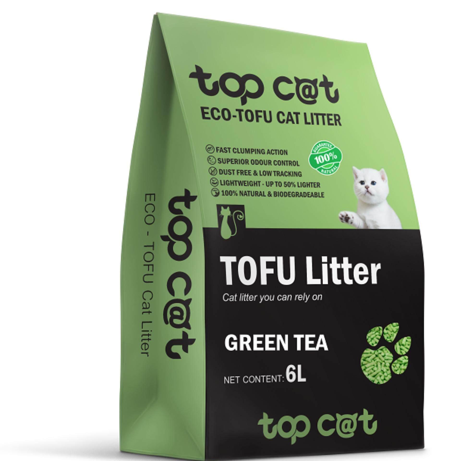 ทรายแมวเต้าหู้ Topcat กลิ่น Greentea 6L