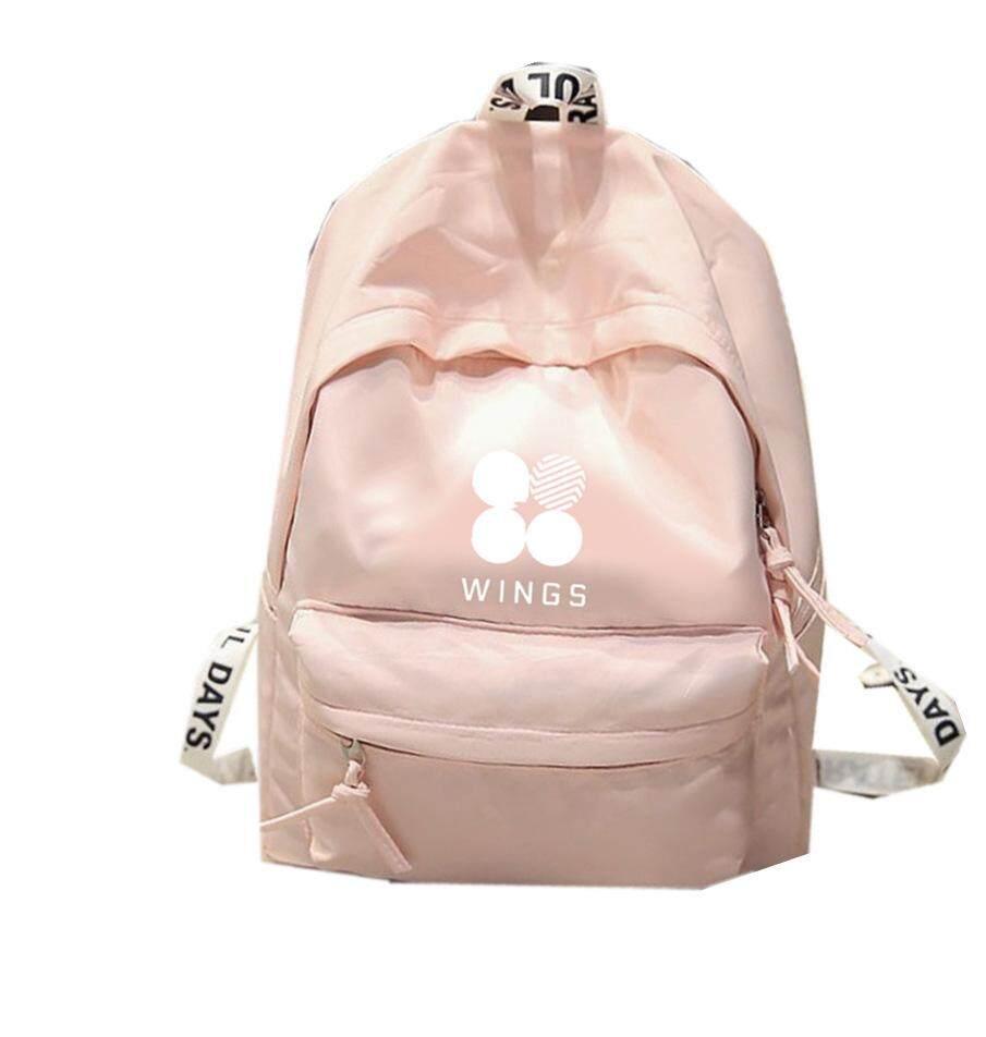 Fitur Barbie Bts Tricolor Kanvas Tas Pelajar Pria Dan Wanita Ransel Import Backpack 335 Casual Trendy Tide Intl 3
