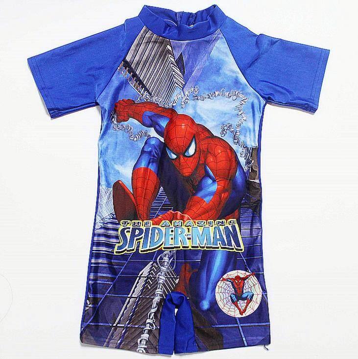ชุดว่ายน้ำ ชุดว่ายน้ำเด็ก ชุดว่ายน้ำเด็กผู้ชาย ชุดว่ายน้ำ 1 ชิ้น Swimming Suit ลายการ์ตูน The Amazing Spider-Man.