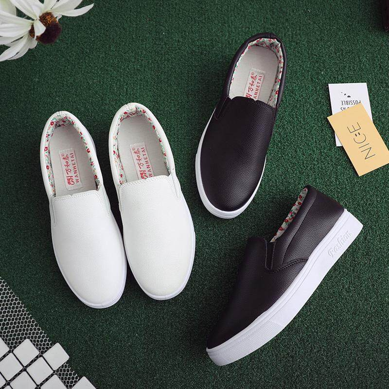 c52b779eb28a Lazy person shoe female s one feet Deng is small white shoe 2018 new style  of Han