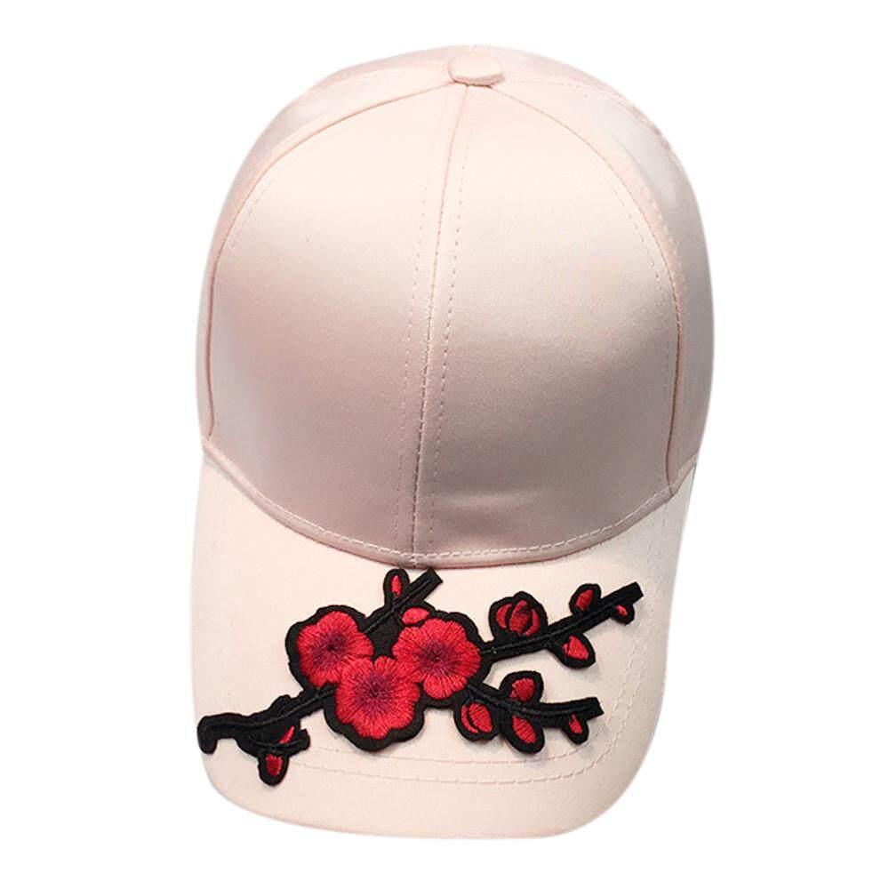 Women Men Couple Applique Floral Baseball Cap Unisex Snapback Hip Hop Flat Hat Fashion