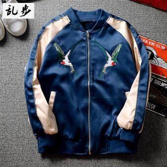 Price Checker Gaya Korea Harajuku Gaya Kampus Yokosuka bordir Jaket bisbol  jaket longgar Pria dan wanita 309ebf1bc2