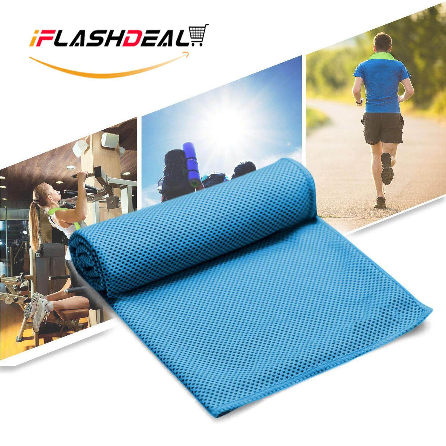 Iflashdeal Sports Towels Instant Cooling Ice Cold Towel Sports Gym Quick Dry Towels Microfiber Towel For Cycling Running Climbing Fishing By Iflashdeal.