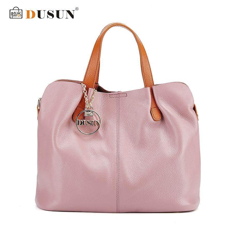 11adfdc751 Dusun Genuine Leather Bag Simple Vintage Style Shoulder Bag Womens Brand  Design Handbag women litchi Messenger