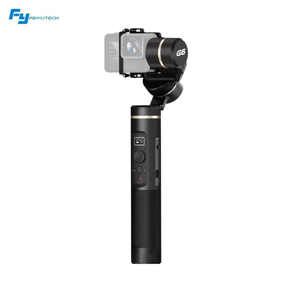 Feiyu Tech G6 3-Axis WIFI Bluetooth Stabil Splash-Proof Handheld Kamera Aksi Stabilizer Gimbal untuk GoPro Pahlawan 6 5 4 RX0