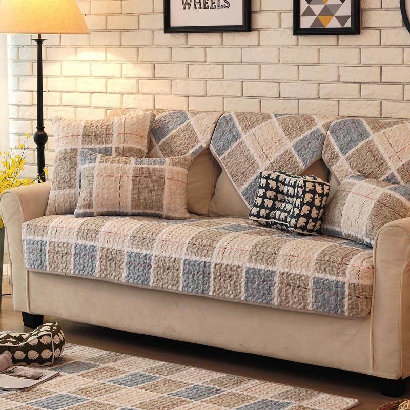 Nordik katun Kain Anti Selip bantal sofa modern minimalis kulit penutup sofa Bungkus Penuh universal set ruang tamu kain alas sofa Penutup - 2