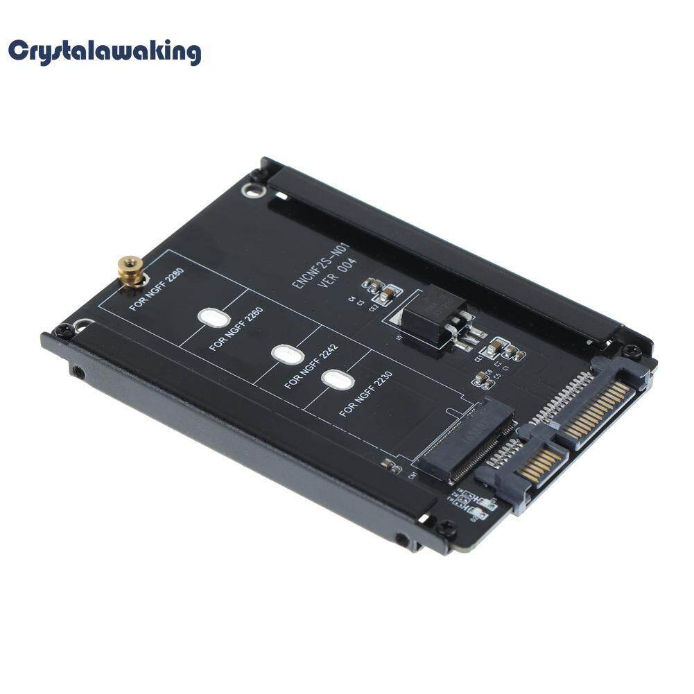 Metal Cased Cy B+m Socket 2 M.2 Ngff (sata) Ssd To 2.5 Sata Adapter (black) - Intl By Crystalawaking.