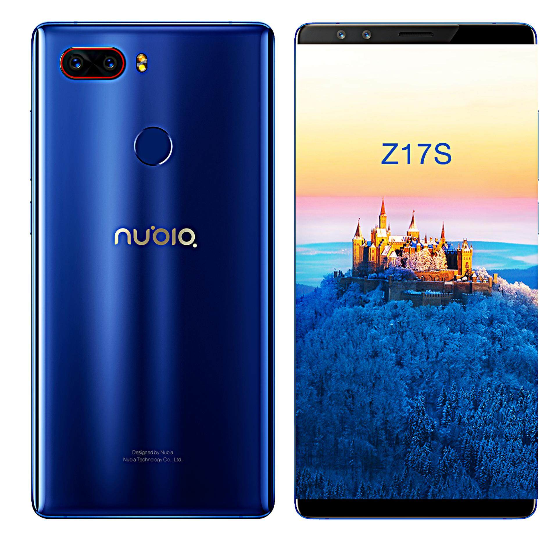 นูเบีย Z17S สีน้ำเงิน ออโรร่า  มือถือสเปคแรง แรม8GB **ผ่อนเดือนละ 1799บาท