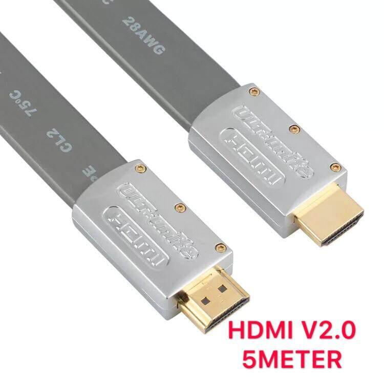 สาย Hdmi เวอร์ชั่น 2.0 รองรับ 4k ,3d High Speed ใช้ได้กับ โทรทัศน์ คอมพิวเตอร์ และ อุปกรณ์ทุกอย่างที่มีช่อง Hdmi Cable V2.0 - 5 เมตร.