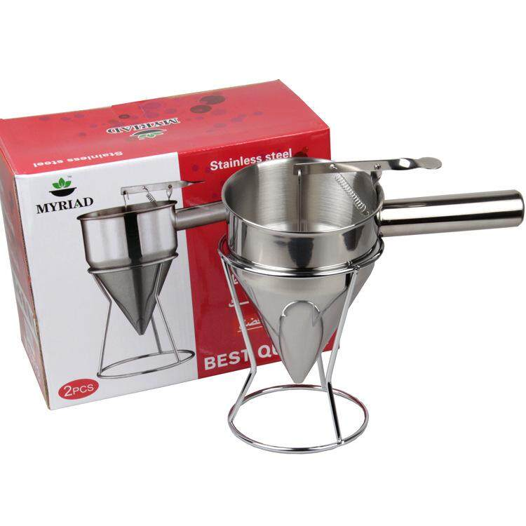 Hình ảnh Octopus pellets special funnel stainless steel cone funnel feeder syrup dispenser