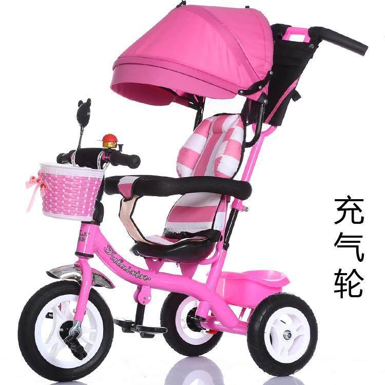 Anak-anak sepeda roda tiga troli besar Sandaran 1-3-6 tahun Pria ebb0b76edb