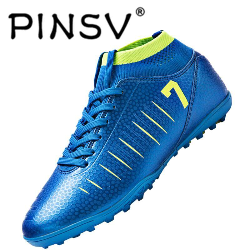 Pinsv Shoes Fashion Flexible And Comfortable Mens Soccer Shoes With Nails Lightsome And Breathable Football Shoes Wear-Resistance Steady Sole By Pinsv.
