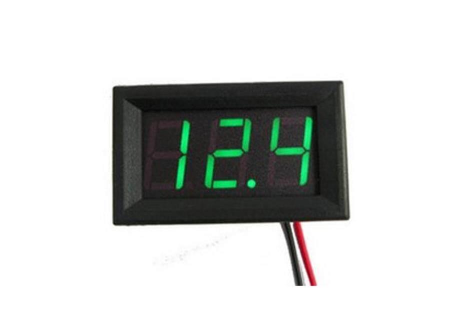 วัดโวลท์ดิจิตอล Dc0-30v(สีเขียว) (topshop19).