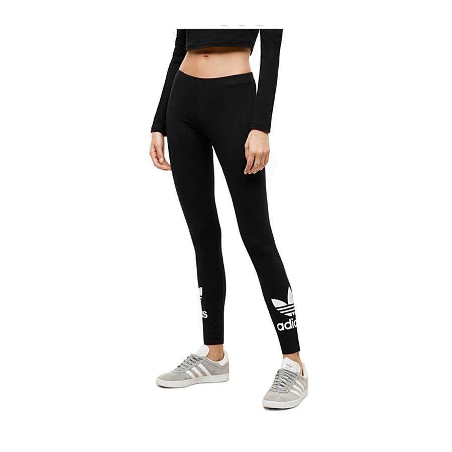 ขาย Adidas กางเกงเลกกิ้ง Trefoil Leggings รุ่น Aj8153สีดำ Black Adidas ออนไลน์