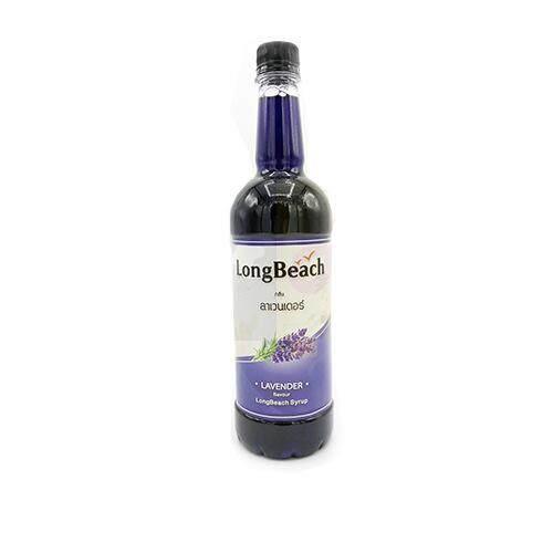 น้ำเชื่อมลองบีช (longbeach Syrup) กลิ่น Lavender.