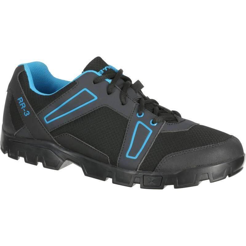 รองเท้า Mtb 300 (สีดำ/ฟ้า).