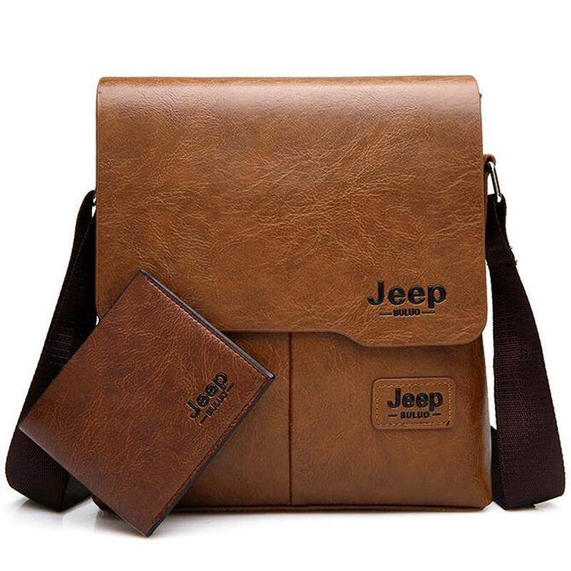 Jeep Buluo Men Messenger Bags 2 In 1 Pu Leather Crossbody Shoulder Bag For Man Business Tote Bags By Kerry Trading.