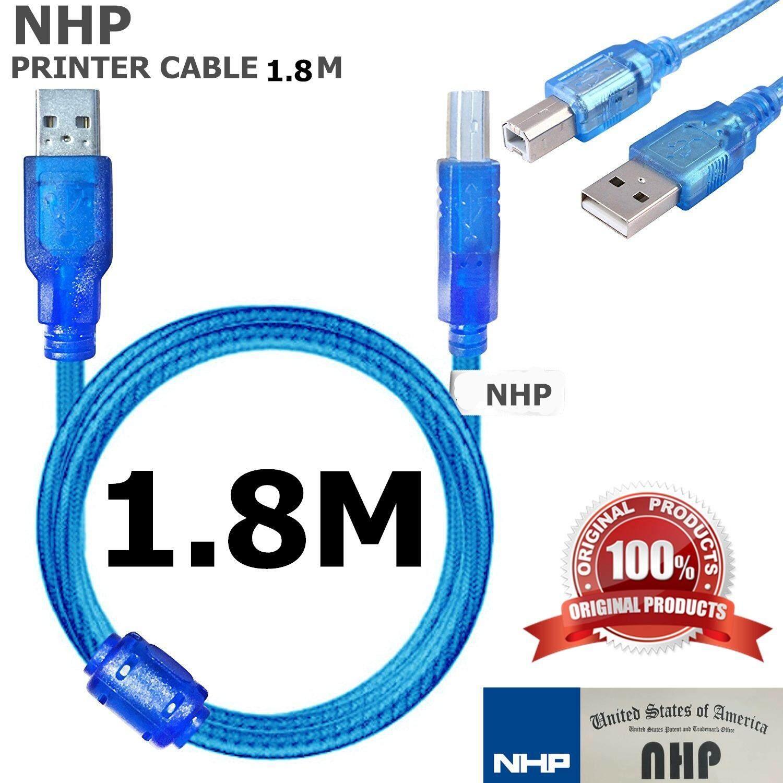 สาย Usb เครื่องปริ้นเตอร์ Cable Printer Usb ยาว 1.8เมตร  (blue).
