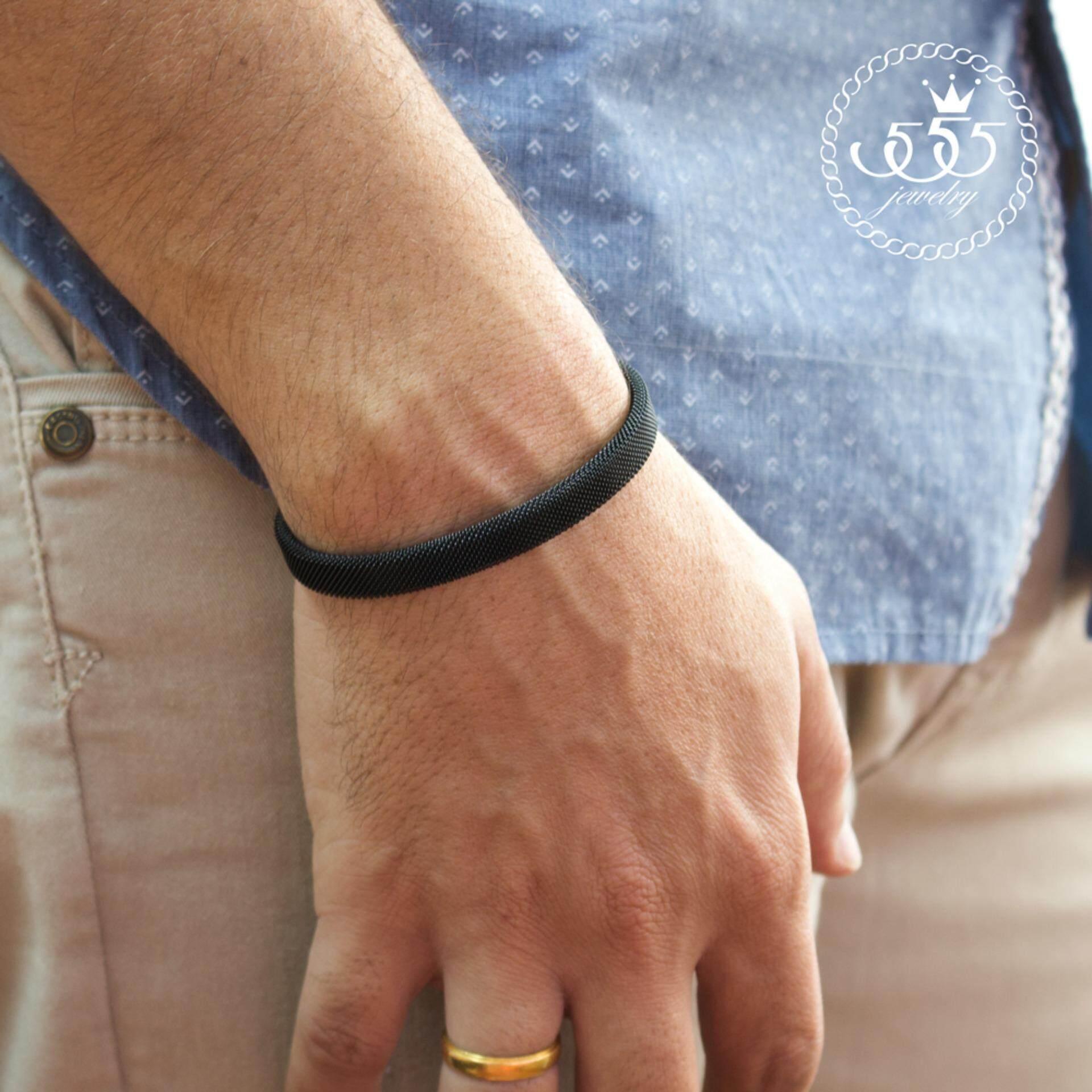 ขาย ซื้อ 555Jewelry 316L Bangle กำไลข้อมือ รุ่น Mnc Bg077 D Black สร้อยข้อมือ สร้อยข้อมือชาย สร้อยข้อมือคู่ สร้อยข้อมือทอง กำไลข้อมือชาย ข้อมือสแตนเลส ใน สมุทรปราการ