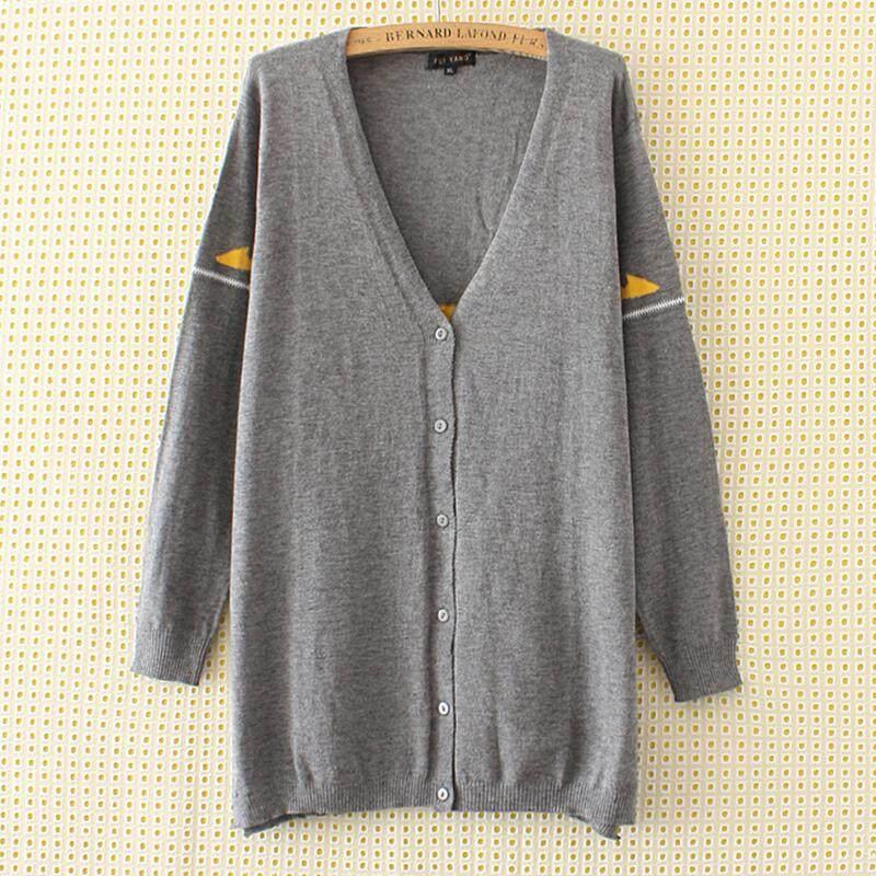 Sweter Mm2018 Mantel Mantel Wanita Ukuran Besar untuk Meningkatkan Kode Kardigan