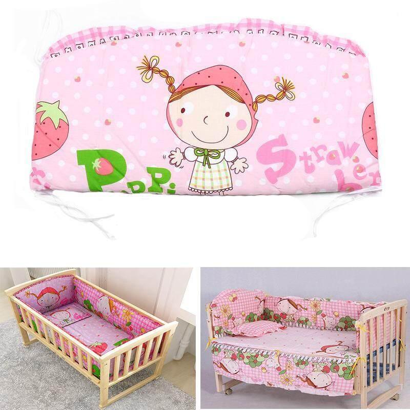 110*60 เซนติเมตร 5 ชิ้น/เซ็ตผ้าฝ้ายนุ่มสำหรับทารกตาข่ายชุดหมอนชุดเครื่องนอนเด็ก.