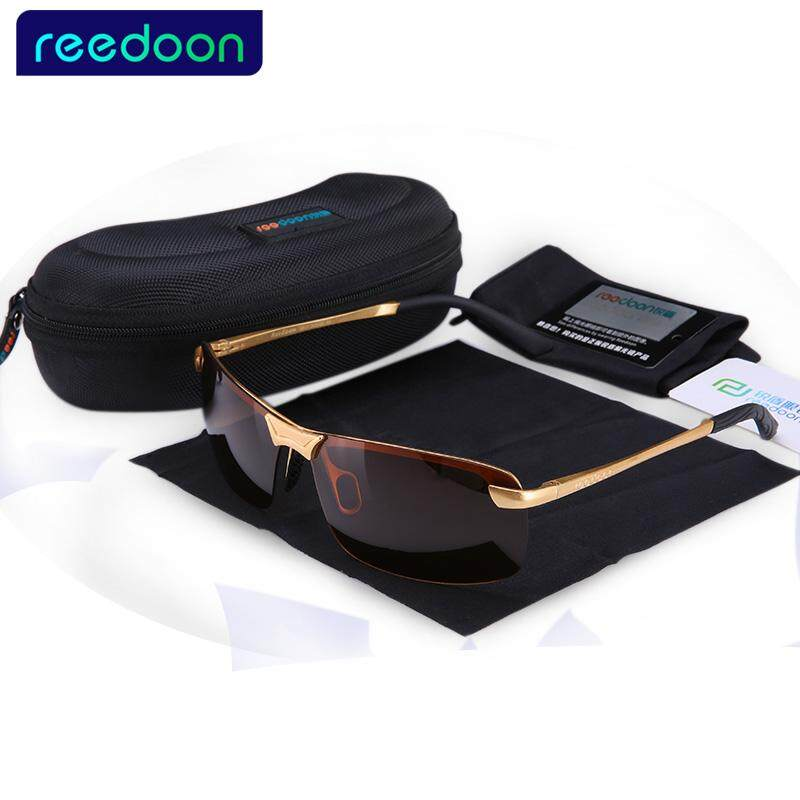 907d77e532 New ReeDoon Brand Fashion Polarizing Sunglasses Men Driving Sun Glasses  Alloy Frame 8 colors oculos Hot