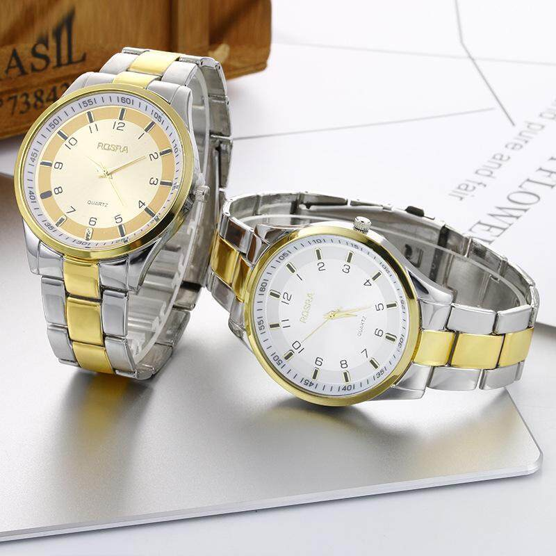 2017 foreign trade new set steel band brand mens watch fashion leisure business quartz watch clock wholesale Malaysia