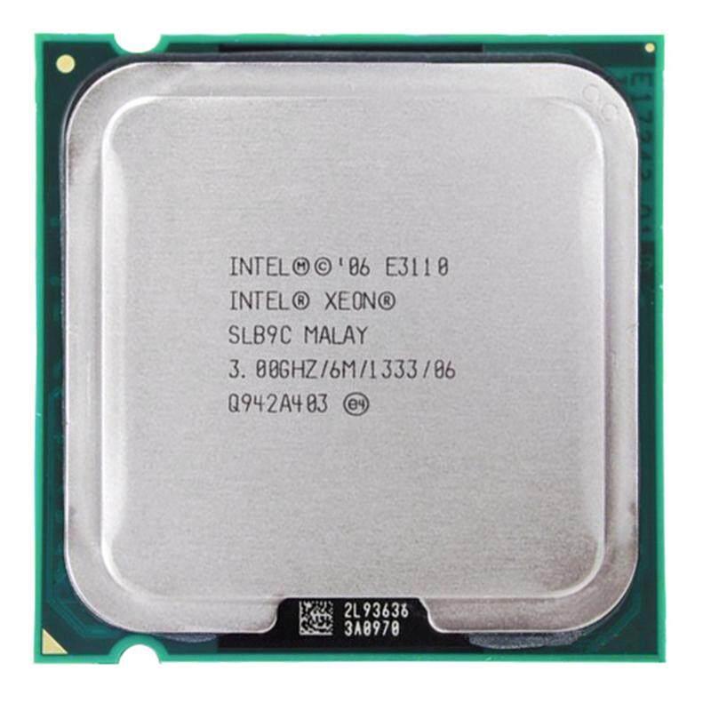 Intel Xeon 2 Core E3110 Prosesor Intel E3110 CPU E8400 3.0 GHz LGA 775 6 MB L2 Dual-Core FSB 133Hz