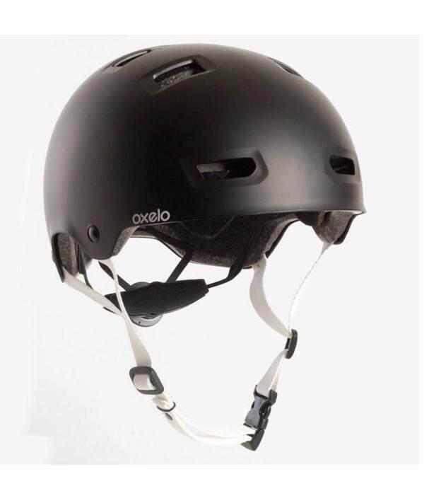 Oxeloหมวกกันน็อคสำหรับอินไลน์สเก็ต สเก็ตบอร์ด สกู๊ตเตอร์ และจักรยาน รุ่น Mf 5 (สีดำ)ไซน์ M (ขนาดศีรษะ 52-55 ซม.).