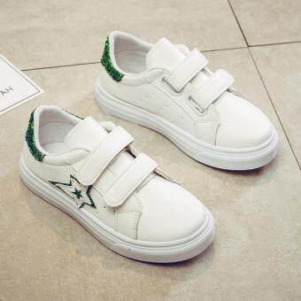 Pencari Harga Anak-anak sepatu putih kecil wanita 2018 model baru musim semi dan musim gugur bernapas Gaya Korea anak laki-laki Sepatu Zhongshan University ...