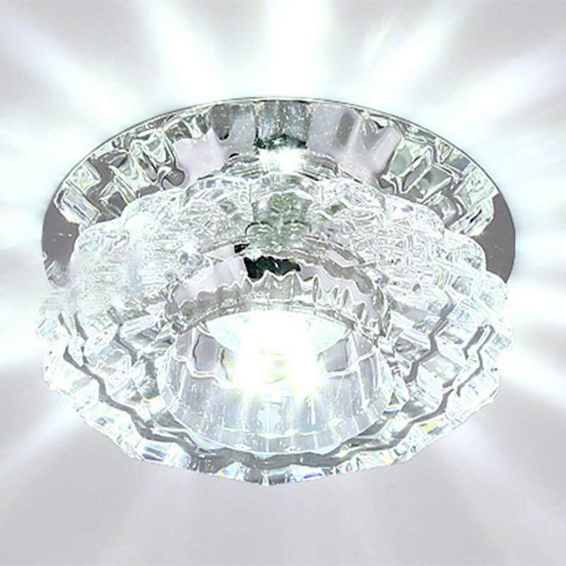 BH Langit-langit LED Kristal Fitting Lampu Lampu Gantung untuk Koridor Lorong Lobi Ruang Tamu