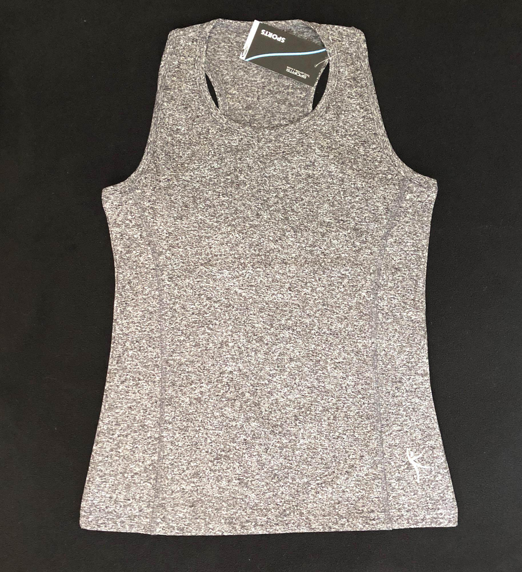 เสื้อกล้ามออกกำลังกายผู้หญิง Sports, สีเทา_model1.