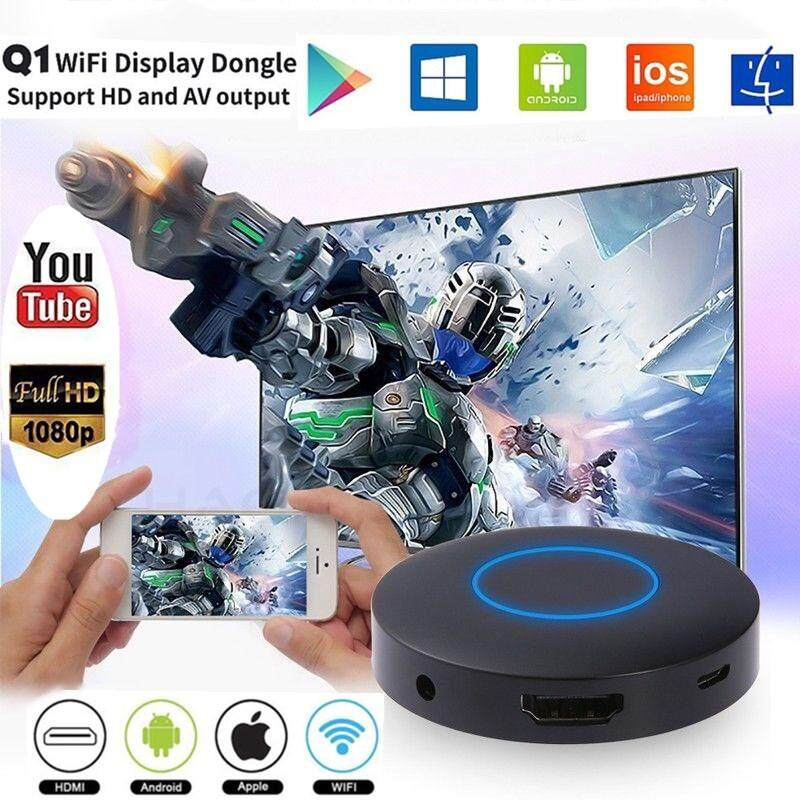 Wifi Display Dongle Av Hd Wireless Screen Mirroring Adapter For Android/ios.