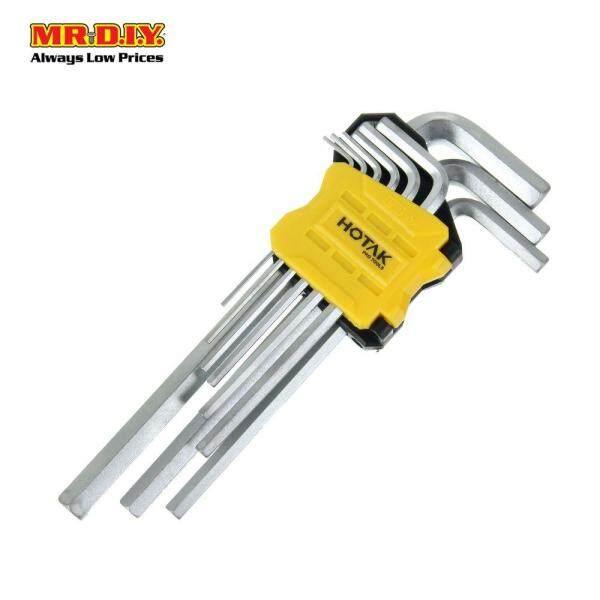 HOTAK 9-piece Long Arm Hex Key Set