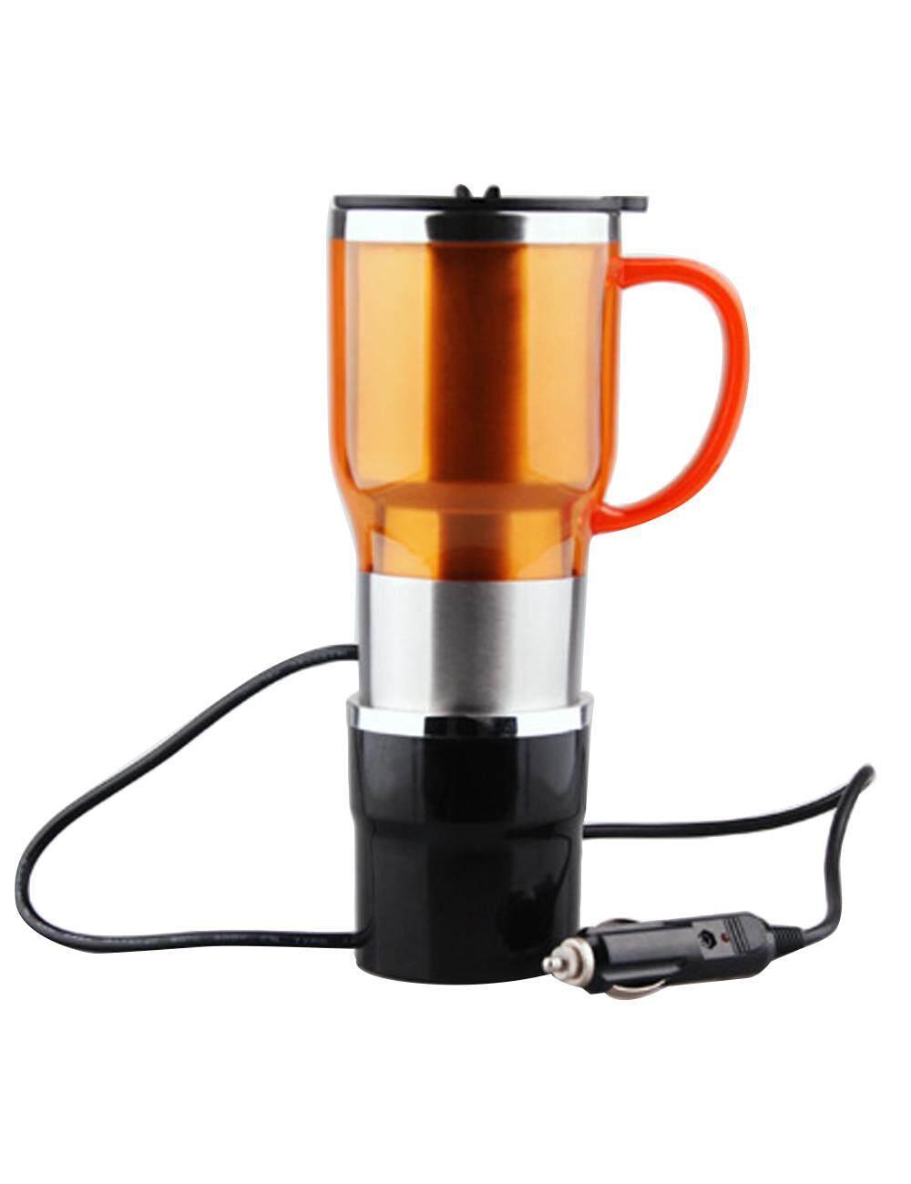 Fitur Cukke 12v 24v 450ml Electric Heating Cup Driving Travel Q2 11cm Teko Listrik Mug Pemanas Fashion Vacuum Stainless Steel Bottle