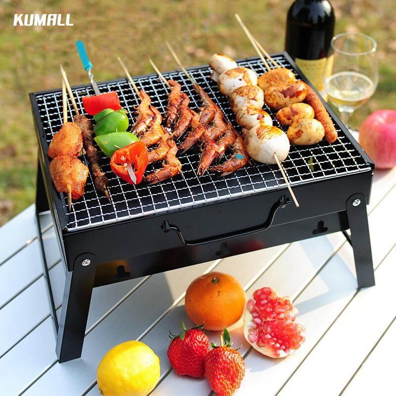 Kumall Mini Bbq Barbecue เตาปิ้งย่าง เตาปิ้งย่างพกพา เตาบาร์บีคิว เตาย่าง เตาบาร์บีคิว พับได้ น้ำหนักเบา Portable Grill Charcoal.