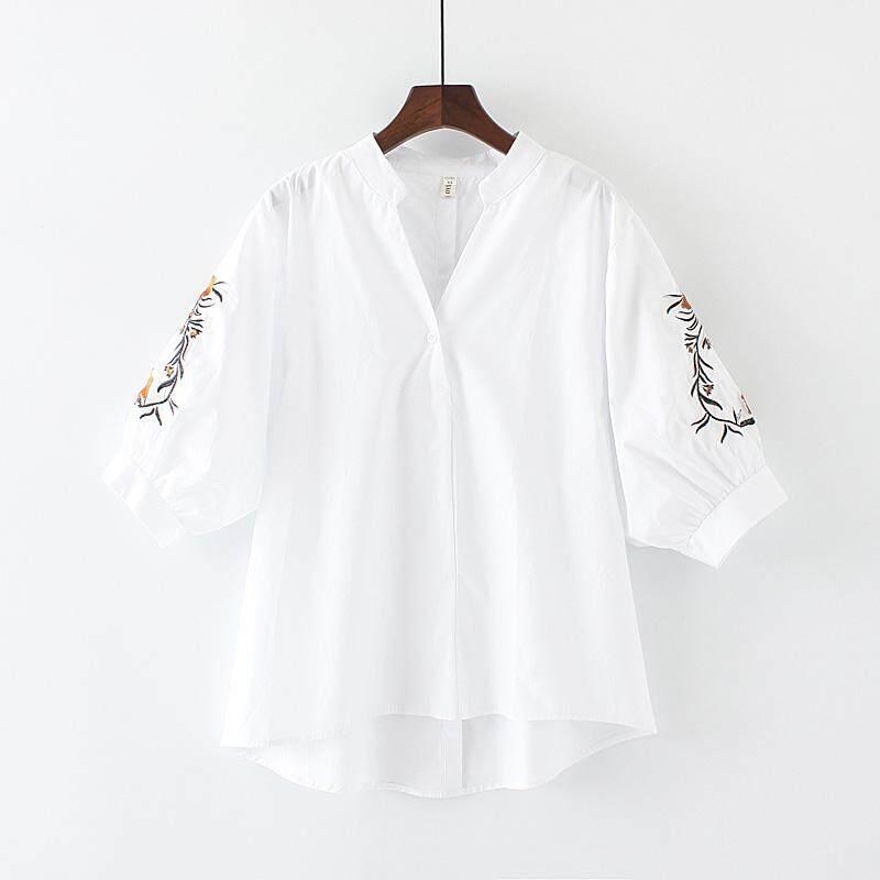 Besar Loli ukuran besar baju wanita 200 pon MM pakaian musim panas model baru Gaya Korea lengan pendek baju ketat wanita Atasan adik perempuan gemuk kemeja perempuan