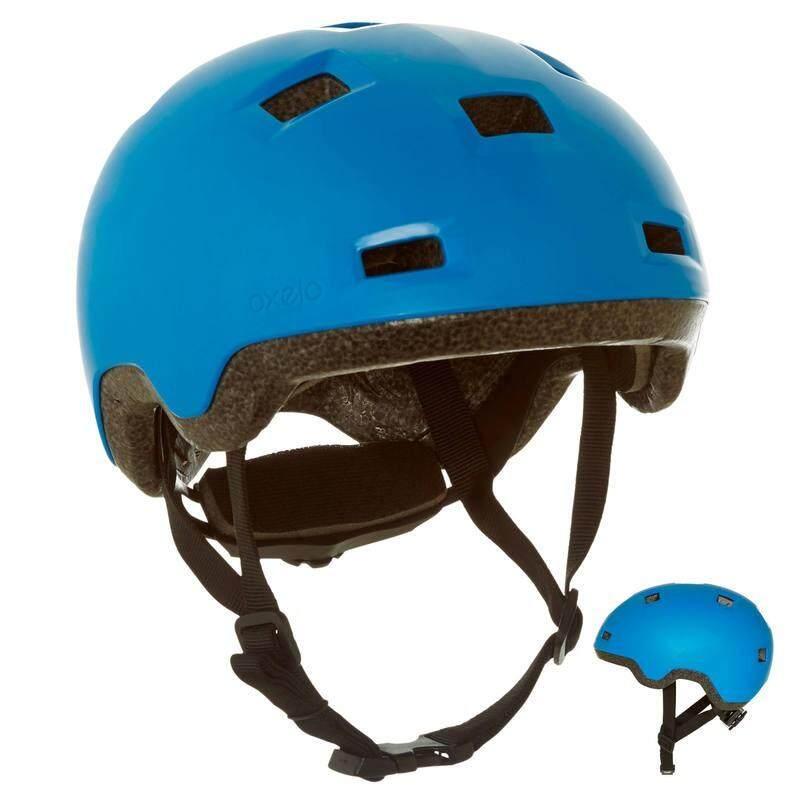 Oxelo หมวกกันน็อคเด็ก รุ่น B100 สำหรับเล่นสเก็ต สเก็ตบอร์ด สกู๊ตเตอร์ และจักรยาน (สีฟ้า).