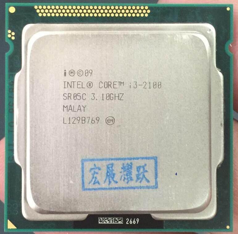 Intel Core I3-2100 I3 2100 Processor (Cache 3.10 GHz) LGA1155 Cpu Desktop 100% Bekerja dengan Baik Desktop Prosesor-Intl