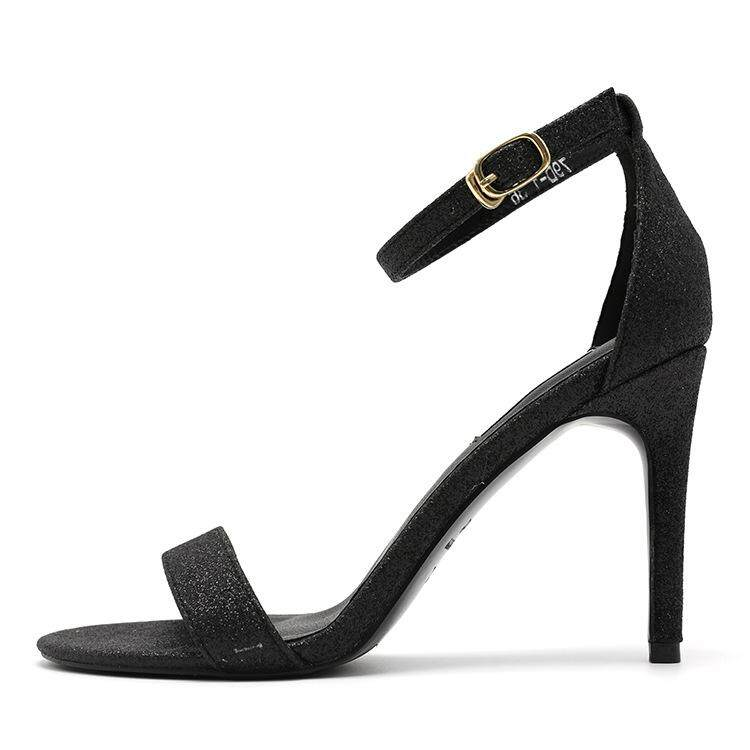 fce5fcb2a3ef 2018 Good Quality Buttoned Open-toed New Sandals Women Summer High-heeled  Shoes with