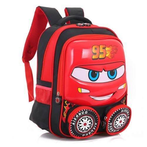 กระเป๋านักเรียน กระเป๋าสะพายไหล่ กระเป๋าเป้เด็ก ลาย Cars.