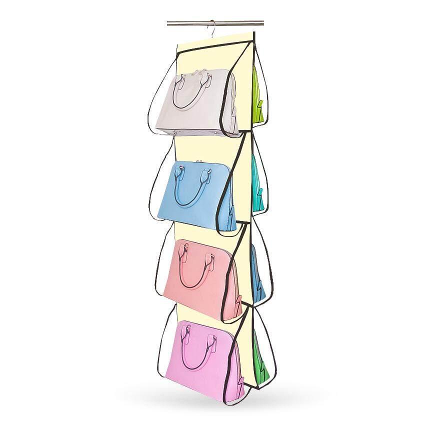 Hhsociety ถุงแขวนอเนกประสงค์  ที่เก็บของ  ถุงแขวนเก็บของ 8 ช่องhand Bag Organizer.