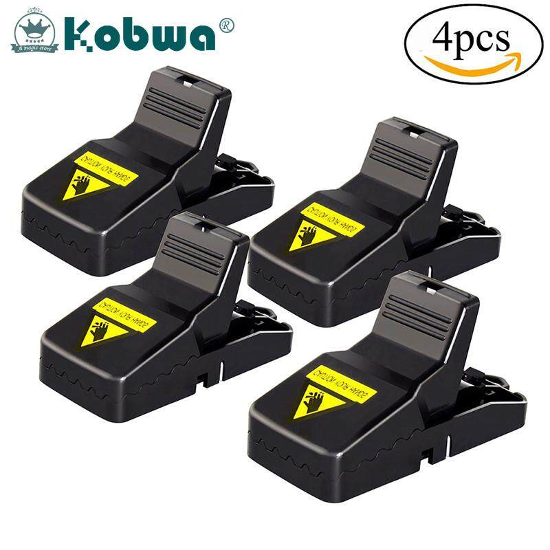 Kobwa Mouse Trap Quick Kill Super Sensitive Reusable Mice Rat Trap Catcher And Safe For Child Dog Cat 4 Pack Intl เป็นต้นฉบับ
