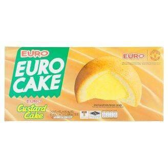 ยูโร่ คัสตาร์ด เค้ก พัฟเค้กสอดไส้ครีมคัสตาร์ด 17กรัม X 12 ซอง.