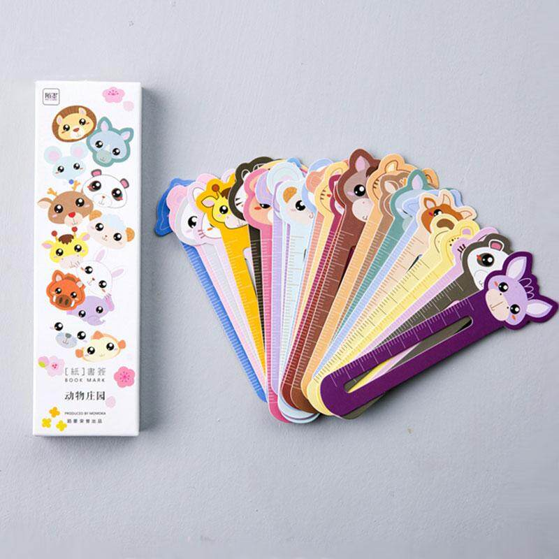 30 Pcs/box Animal Farm  Scale Shape Bookmark Paper Bookmarks Kawaii Stationery School Supplie Papelaria Kids Gifts By Golden Center Artware Company.