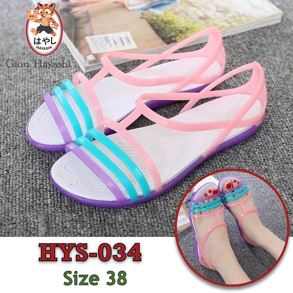 Takayama - รองเท้า รองเท้าแตะ รองเท้าลำลองผู้หญิง รองเท้ารัดส้นแฟชั่น Hys-034 Size 38.