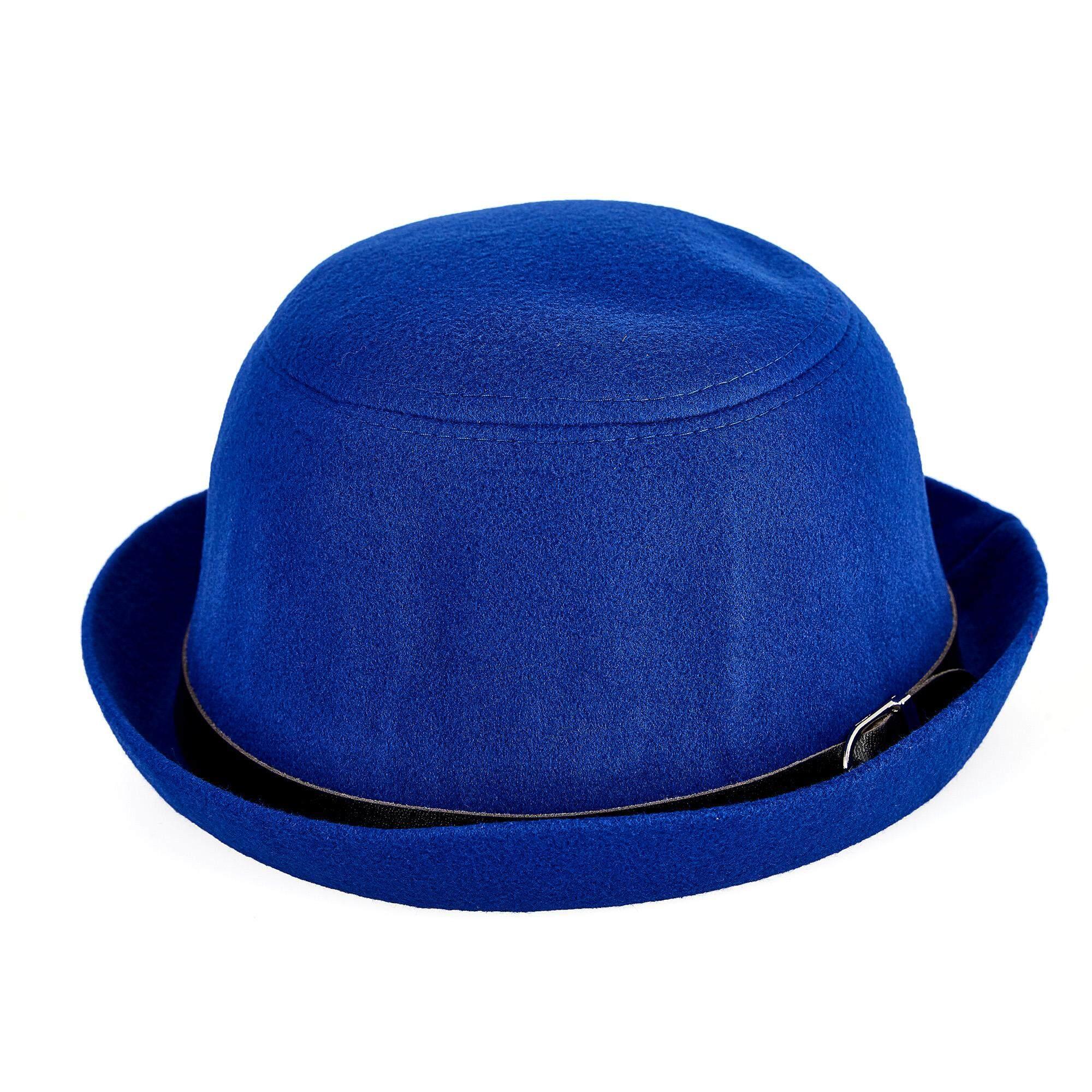 หมวกแฟชั่นทรงกลมสีน้ำเงิน (สำหรับเด็ก) รุ่น Hl971212.